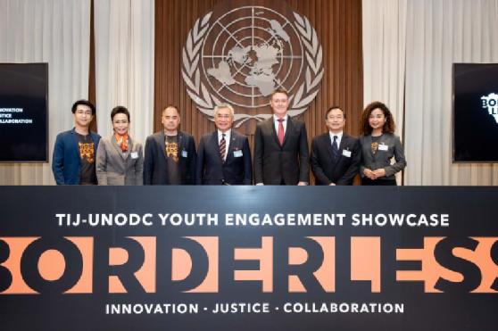 """เยาวชนนานาชาตินำเสนอผลงานจาก """"เยาวชนไร้พรมแดน"""" ที่ UNESCAP"""
