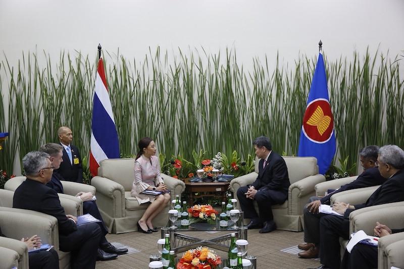 Thai Princess and UNODC Delegation Meet ASEAN Secretary General